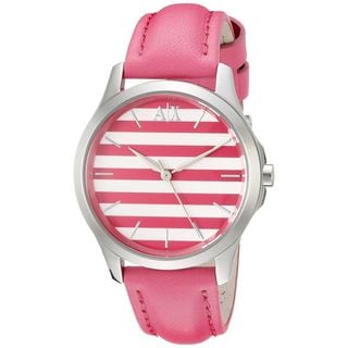 Armani Exchange Women's AX5235 'Smart' Pink Leather Watch
