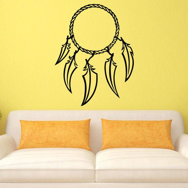 Feathered Dreamcatcher Vinyl Wall Art Decal Sticker