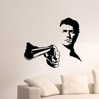 Man With Gun Vinyl Wall Art Decal Sticker