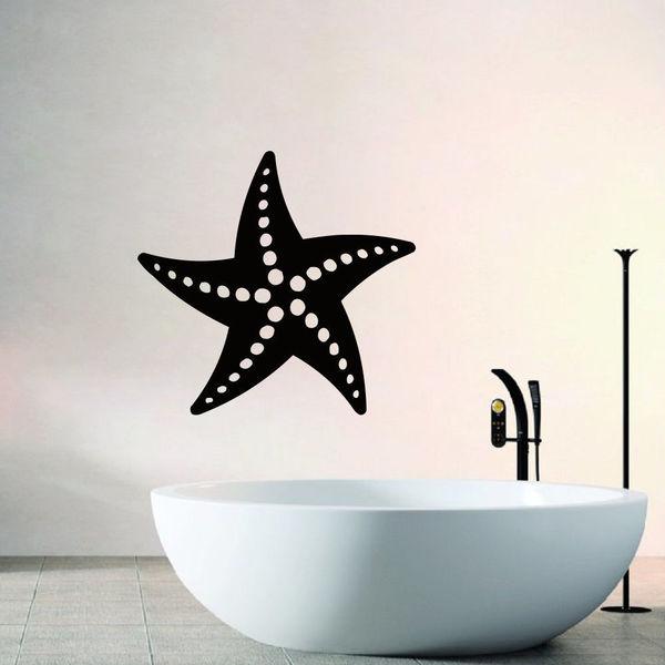 Starfish Bathroom Vinyl Wall Art Decal Sticker - Free Shipping On ...