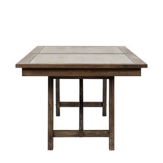 Stoney Brook Rustic Saddle 40x78 Trestle Table - Brown