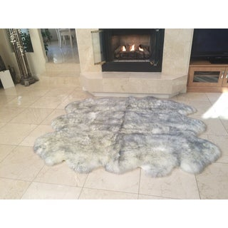 Northland Supreme Sheepskin Wool 6-pelt Shag Rug (6' x 6')