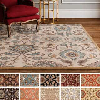 Hand Tufted Patchway Wool Area Rug 9 Square