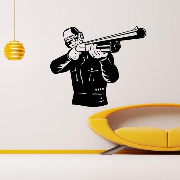 Skeet Shooting Hunting Vinyl Wall Art Decal Sticker