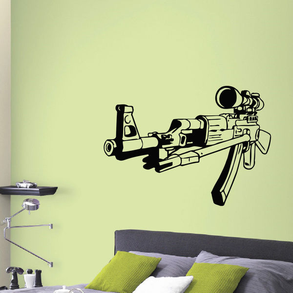 Sniper AK-47 Rifle Vinyl Wall Art Decal Sticker - Free Shipping On ...