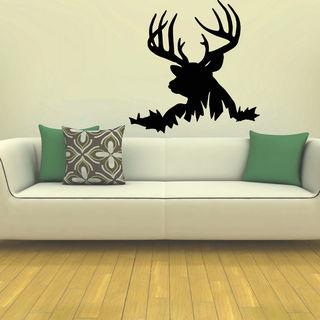 Hunting Deer Rack Vinyl Wall Art Decal Sticker