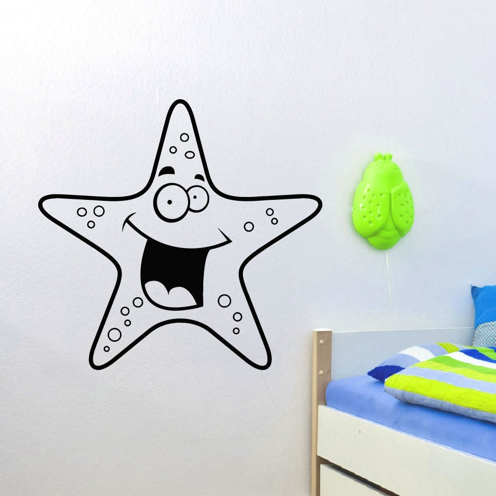 Smiling Starfish Vinyl Wall Art Decal Sticker (22 inches ...