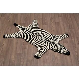 Zebra Skin Shape Wool Rug (3' x 5')