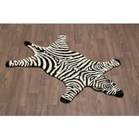 Zebra Skin Shape Wool Rug - 3' x 5'
