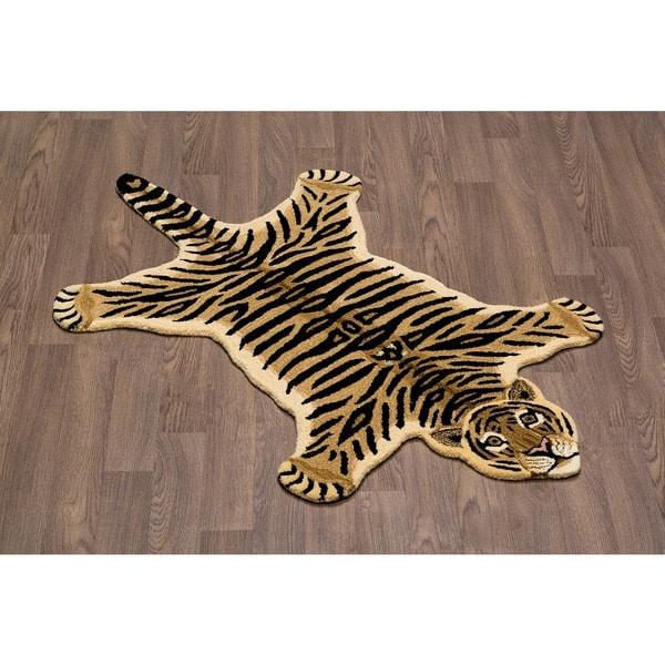 Hand-tufted Tiger Skin Shape Wool Rug (3' x 5') - Free ...