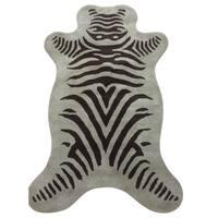 Zebra Wool Rug Olive Brown - 3' x 5'