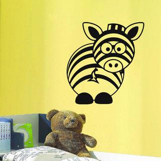 Baby Zebra Head Vinyl Wall Art Decal Sticker