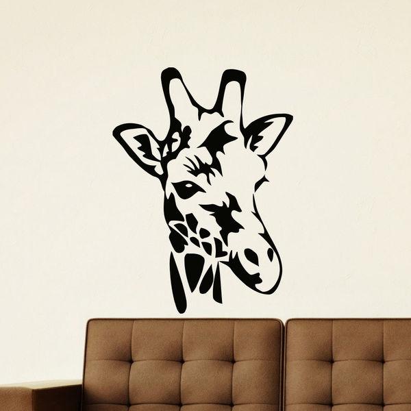 shop baby giraffe vinyl wall art decal sticker - free shipping on