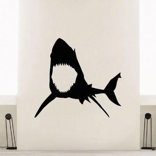 Scary Shark Vinyl Wall Art Decal Sticker