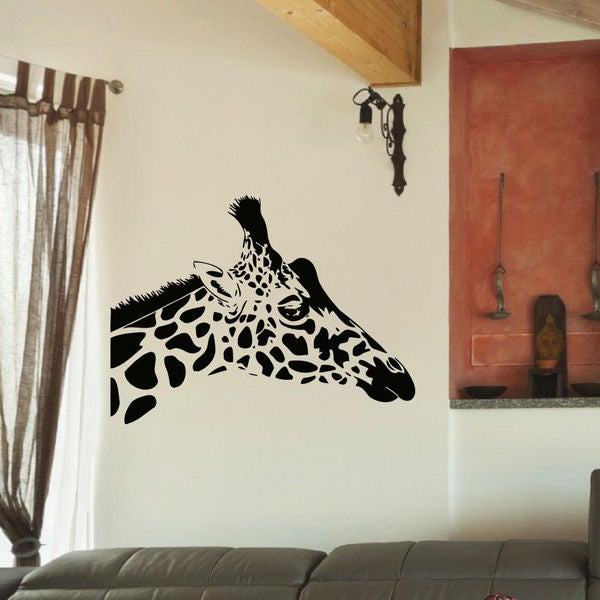 Giraffe Head Vinyl Wall Art Decal Sticker