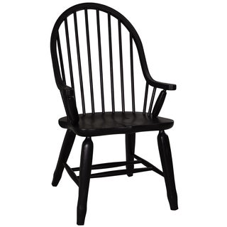 Treasures Rustic Black Bow Back Arm Chair