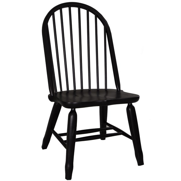 Bow Back Dining Chairs ~ Shop treasures rustic black bow back dining chair free