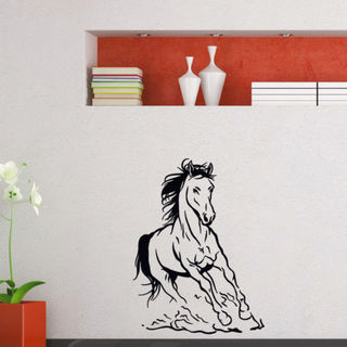 Galloping Horse Vinyl Wall Art Decal Sticker