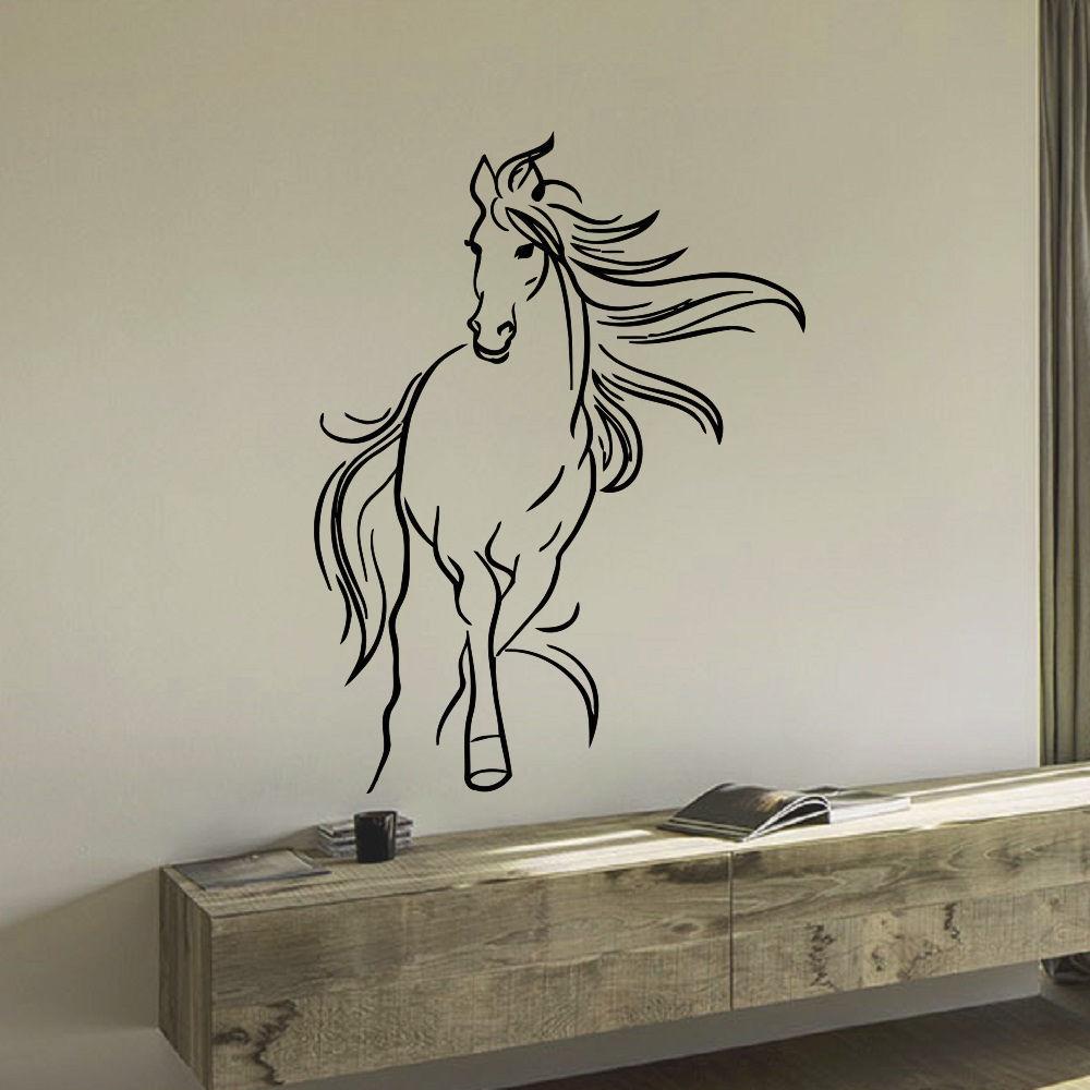 Mustang Horse Vinyl Wall Art Decal Sticker (35 inches x 2...
