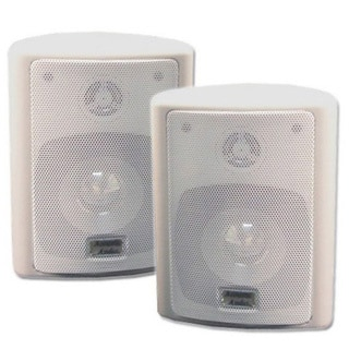 Acoustic Audio 151W Indoor Outdoor 2 Way Speakers 600 Watt White Pair New