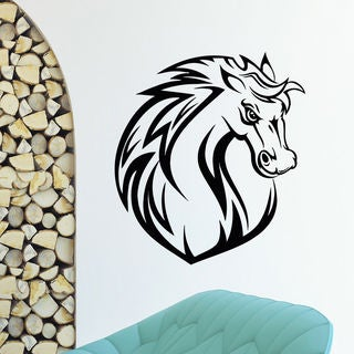 Angry Mustang Horse Vinyl Wall Art Decal Sticker