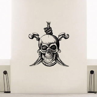 Skull Pirate Hanged Jolly Roger Vinyl Wall Art Decal Sticker