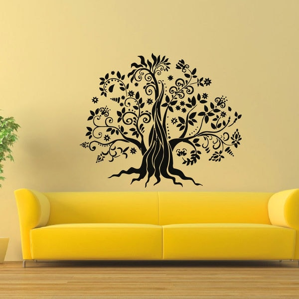 Shop Fairy Fantasy Tree Vinyl Wall Art Decal Sticker - Free Shipping ...