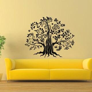 Fairy Fantasy Tree Vinyl Wall Art Decal Sticker
