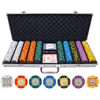 500-piece Crown Casino 13.5-gram Clay Poker Chips|https://ak1.ostkcdn.com/images/products/10642829/P17710436.jpg?impolicy=medium