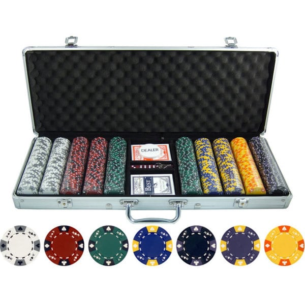 13.5-gram 500-piece Ace King Tricolor Clay Poker Chips