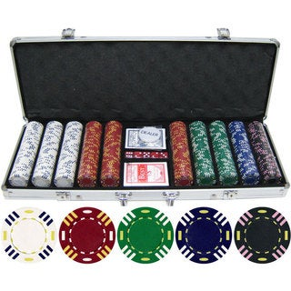 13.5 gram 500-piece Triple Striped Clay Poker Chips