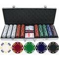 13.5 gram 500-piece Triple Striped Clay Poker Chips