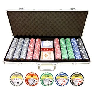 11.5-gram 500-piece Royal Flush Poker Chips Set
