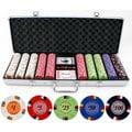 13.5-gram 500-piece Lucky Horseshoe Clay Poker Chips Set