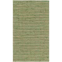 Hand-woven Renato Green Cotton and Jute Rug (3'0 x 5'0) - 3' x 5'