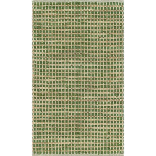 Hand-woven Renato Green Cotton and Jute Rug - 3' x 5'