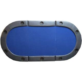 Padded Texas Hold'em Folding Poker Table Top with Cup Holders Blue|https://ak1.ostkcdn.com/images/products/10642860/P17710448.jpg?impolicy=medium