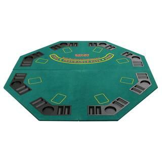 4 Fold Octagon Poker/ Blackjack Table Top Green