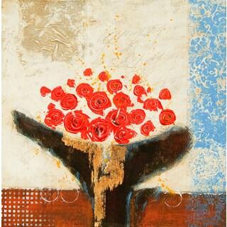 Contemporary Alisha Square Unframed Painting-(32 x 32)