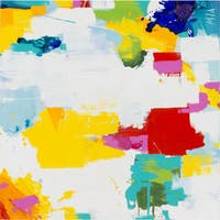 """Abstract Kenzie Square Unframed Oil-painting on Canvas 40"""" x 40"""""""