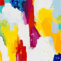 """Abstract Latoya Square Unframed Oil-painting on Canvas 40"""" x 40"""""""