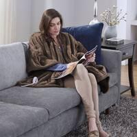 "Serta Heated Snuggler Wrap Throw with Four Heat Settings (50""x60"")"