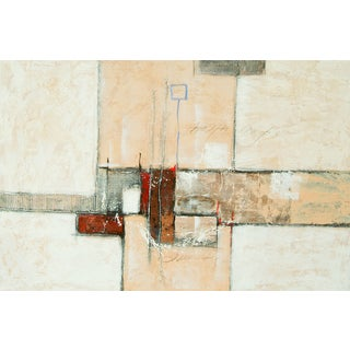 "Abstract Nicole Rectangular Unframed Painting 48"" x 72"""