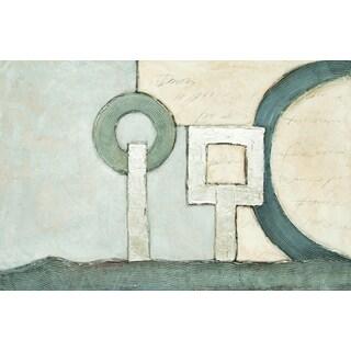 "Geometric Paxton Rectangular Unframed Painting 48"" x 72"""