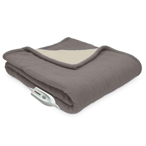 "HOME /& MAIN fine Linens REVERSIBLE Throw SHERPA//FLEECE Blanket 50/"" X 60/"""