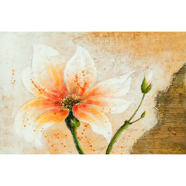 "Floral Briana Rectangular Unframed Painting 24"" x 36"""