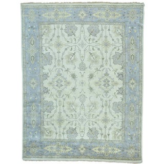 Handmade Oushak Washed Out Wool Oriental Rug (9'2 x 12')