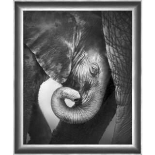 "Wilbur Rectangular Framed Elephant Photography 30"" x 36"""
