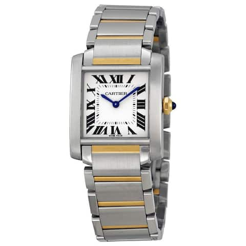 Cartier Women's W2TA0003 'Tank Francaise' 18 Kt Yellow Gold Two-Tone Stainless Steel Watch