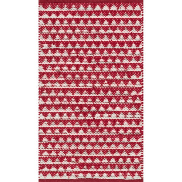 Hand-woven Dakota Red Cotton Rug (3'0 x 5'0)